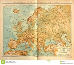 Geographic Map Of Europe by Old Physical Map Of Europe Editorial Photography Image 48787767
