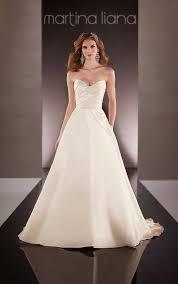 Silk Wedding Dresses Traditional Silk Wedding Gown Martina Liana Wedding Dresses