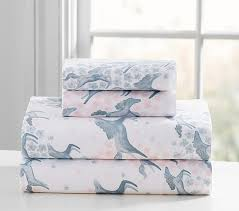 pottery barn linen sheets review clara sateen horses sheet set pottery barn kids