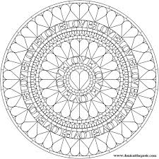 love mandala coloring pages pictures coloring love mandala