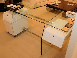 Modern Glass Desk With Drawers 1 Contemporary Furniture Product Page