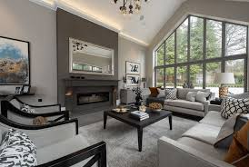 Fully Decorated Homes Gray Living Room Ideas