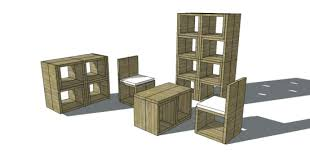 free woodworking plans to build a stackable cube chair the