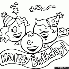 get this happy birthday cake and party coloring pages 16271