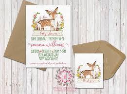 boho woodland deer baby bridal shower birthday party invitation