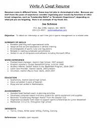 Chronological Order Resume Example Good Resume Examples 2017 Free Resume Builder Quotes