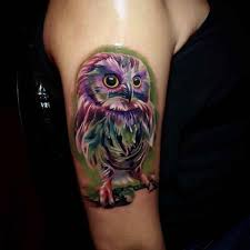 purple owl arm ideas designs