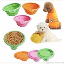 Pet Feeding Bowl Silicone Pop up And Folding Travel Bowl for Food