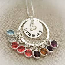 grandmother necklace grandmother necklace sterling silver sted personalize with