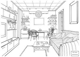 coloring pages kids interior design arts culture bedroom