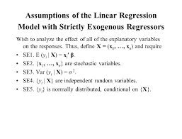 chapter 6 stochastic regressors ppt download assumptions of the linear regression model with strictly exogenous regressors