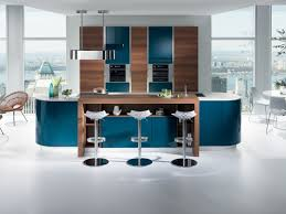 cuisine moderne ilot cuisine gaia bleu mobalpa cuisine moderne et lumineuse avec