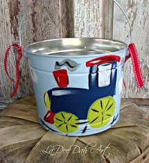 painted easter buckets free shipping easter personalized painted tin