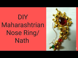 Buy Maharashtrian Traditional Nath Clip Maharashtrian Nose Ring Nath Youtube