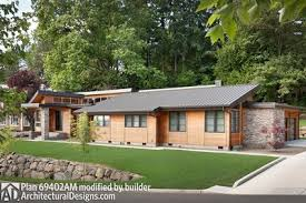 Contemporary Home Plans Single Story Contemporary House Plan 69402am Architectural