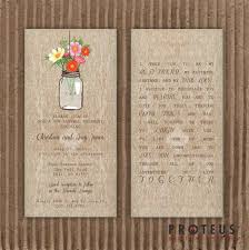 jar wedding programs jar printable invitation rustic wedding invitation