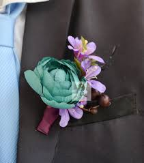 Groomsmen Boutonnieres Online Get Cheap Wedding Corsages And Boutonnieres Blue