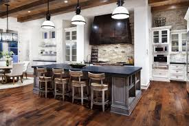 kitchen dark brown hoods closed white wall paint and calm counter