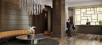 Luxury Lobby Design - exquisite lobby decor of the one riverside park with luxury