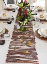 diy table runner ideas make a rustic twig table runner hgtv