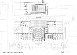 National Theatre Floor Plan by Théâtre National Populaire Arassociati