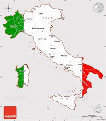 Map Of Italy by Flag Simple Map Of Italy Flag Centered