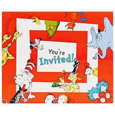 dr seuss invitations birthdayexpress com
