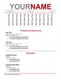 Printable Resume Template Free Printable Resumes