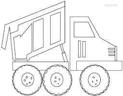 awesome collection of dump truck coloring pages to print for