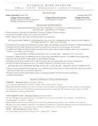 Vfx Jobs Resume by Resume U2013 Danielle Hope Diamond