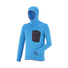 blue mountaineering fleece jacket for men trilogy light hoodie millet