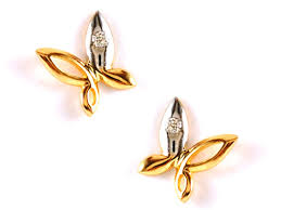baby diamond earrings tiny gold silver butterfly stud earrings discovered