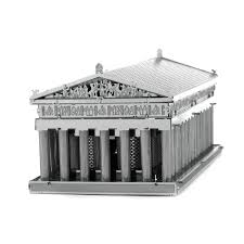 innovatoys metal earth parthenon 3d miniature landmark metal