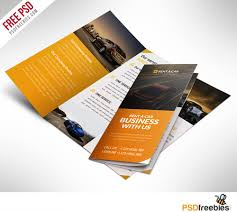 brochure psd template 3 fold car dealer and services trifold brochure free psd
