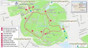 Edinburgh Map Edinburgh Map Holyrood And Arthur U0027s Seat Visitors Map Showing
