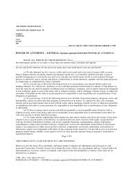 Durable Power Of Attorney California Form by General Power Of Attorney Form 26 Free Templates In Pdf Word
