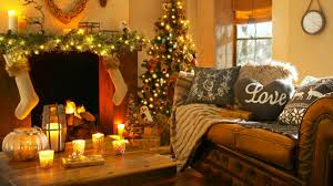 wallpaper christmas new year home light fire candles pillows