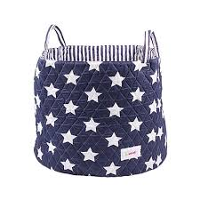 blue storage bag large fabric storage basket from