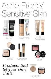 basic face makeup acne e sensitive skin by fivesecondsofinspiration