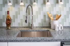 mosaic glass backsplash tile cabinets brick nj mocha quartz