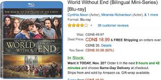 amazon black friday deals canada amazon canada black friday deals save 62 on world without end 55