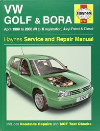 volkswagen golf and bora petrol and diesel 1998 2000 service and