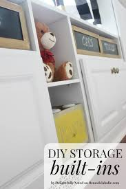 Remodelaholic Playroom Makeover With BuiltIn Cabinets For Storage - Family room storage cabinets