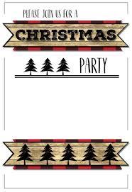 christmas party invitations templates ne wall