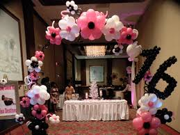 sweet 16 party decorations sweet 16 birthday party decoration and ideas household tips