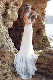 campbell lace beach wedding dresses cap sleeves low back bohemian