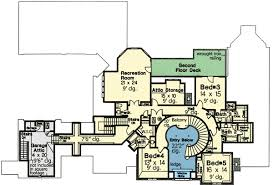 plan w48266fm dream home plan with three staircases e