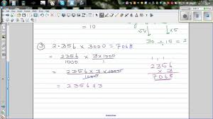 multiplying and dividing decimals without a calculator and