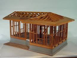 Hand Build Architectural Wood Framework Model House | hand build architectural wood framework model house