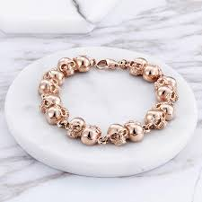 rose gold womens bracelet images Rose gold quot many skulls quot ladies bracelet blown biker jpg